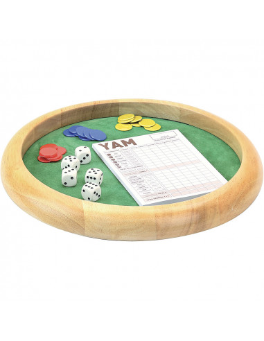 Piste de dés en bois 35 cm