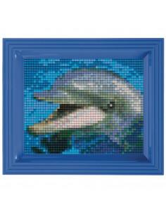 Kit créatif Pixel dauphin avec cadre 14x17cm