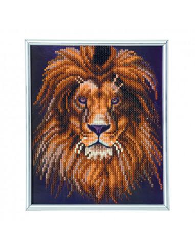 Lion kit broderie diamant avec cadre...