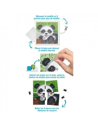 Kit créatif Pixel panda tableau 12x12cm