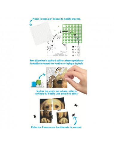Kit créatif Pixel chien tableau 12x12cm