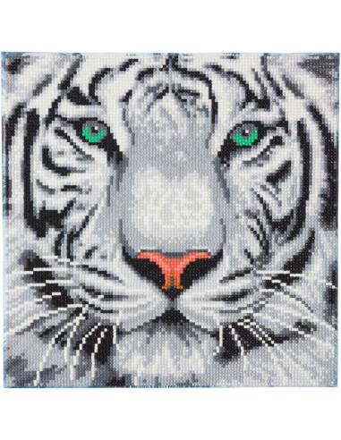 Tigre des neiges kit tableau broderie...