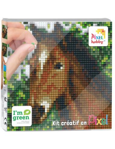 Kit créatif Pixel cheval tableau 12x12cm