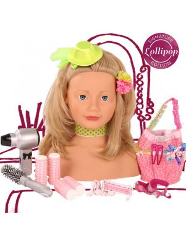 Tête à coiffer Lollipop blonde - Götz