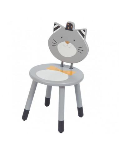 Chaise grise Fernand Les Moustaches -...