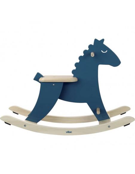 Hudada cheval à bascule bleu avec arceau - Vilac