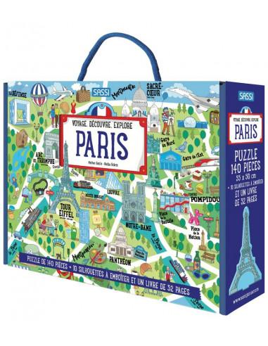 Coffret livre et puzzle Paris - Sassi