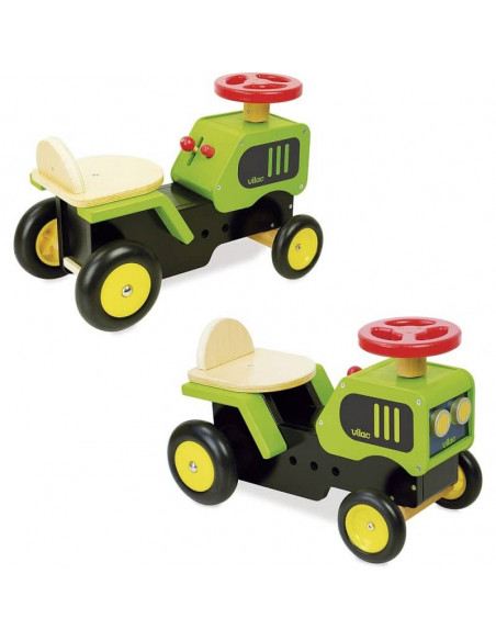 tracteur en bois enfant vilac