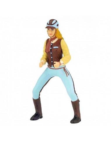 Cavalière fashion bleue - Papo