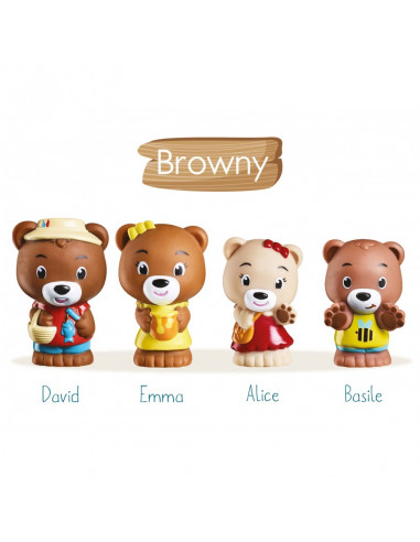 4 personnages famille ours Browny...
