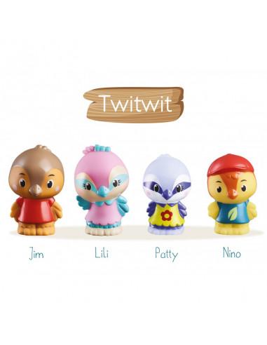 4 personnages famille oiseau Twitwit...