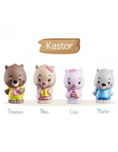 4 personnages famille Kastor Klorofil