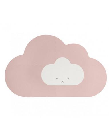 Tapis de jeu nuage rose poudré - Quut