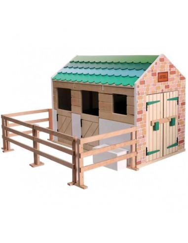 Ecurie en bois pour cheval et poupée...