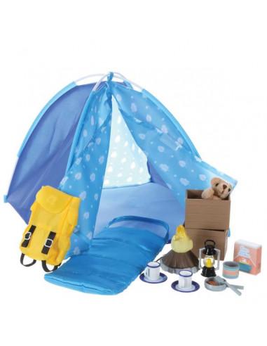 Camping et feu de camp - poupée Lottie