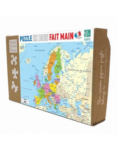 Puzzle 50 pièces carte d'Europe - PMW