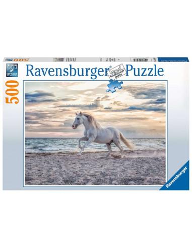 Puzzle 500 pièces cheval sur la plage...