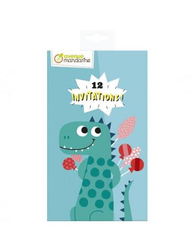 Cartes d'invitation dinosaures -...