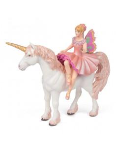 Figurine ballerine sur sa licorne