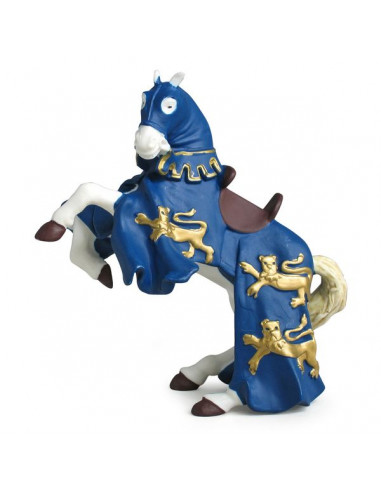 Figurine cheval du roi Richard bleu -...