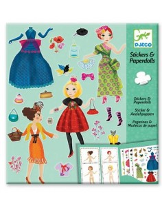 Stickers paper doll Trop...