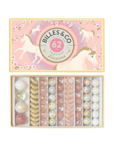 Coffret de 62 Licorne - Billes & Co