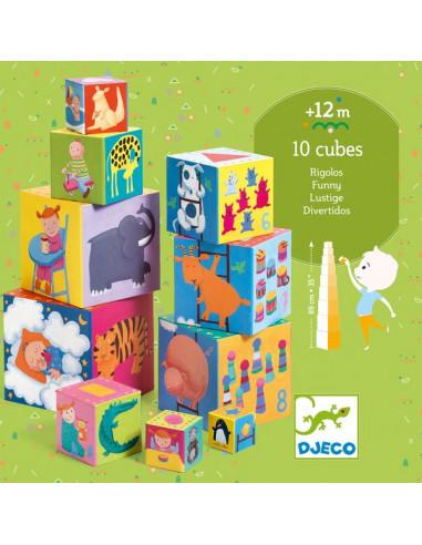 Cubes à empiler rigolos - Djeco