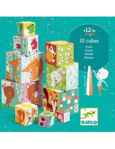 Cubes à empiler la forêt