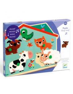 Puzzle sonore ouaf woof