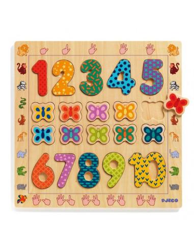 Puzzle chiffres en bois - Djeco