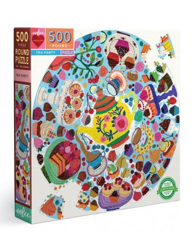 Puzzle rond Tea party 500 pièces - Eeboo