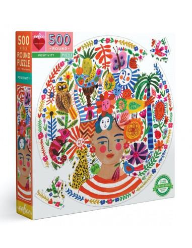 Puzzle rond Positivity 500 pièces -...