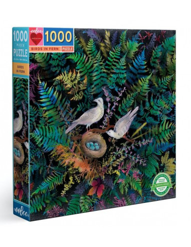 Puzzle oiseaux dans la fougère 1000...