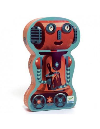 Puzzle 36 pièces Bob le robot - Djeco