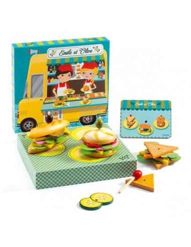 Boîte à hamburger Emile et Olive - Djeco
