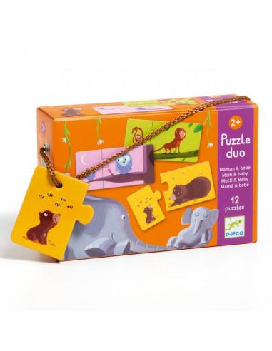 Puzzle duo maman et bébé - Djeco