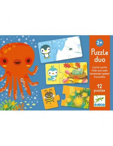Puzzle duo cache cache - Djeco