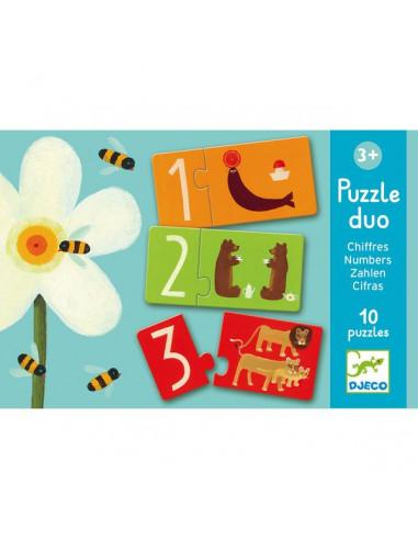Puzzle duo chiffres - Djeco