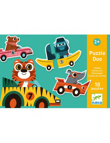 Puzzle duo bolides - Djeco
