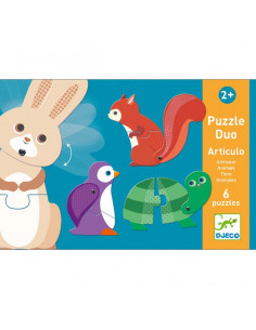 Puzzle duo articulo animaux