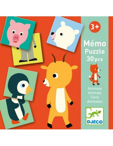 Mémo animo puzzle 30 pièces - Djeco