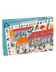 Puzzle d'observation 35 pièces l'école des hérissons