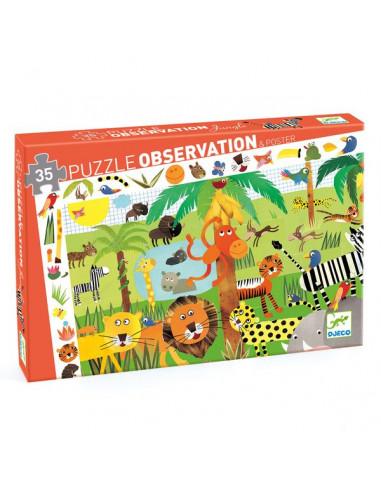 Puzzle d'observation La jungle - Djeco