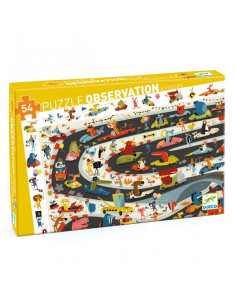 Puzzle d'observation rallye automobile