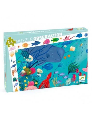Puzzle d'observation aquatique - Djeco