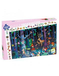 Puzzle d'observation la forêt enchantée