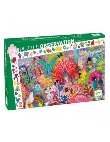 Puzzle d'observation carnaval de rio...