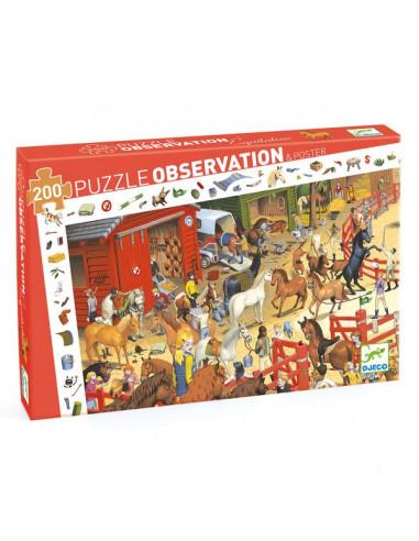Puzzle d'observation équitation - Djeco