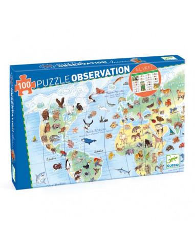 Puzzle d'observation animaux du monde...