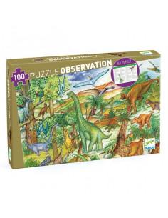 Puzzle d'observation Dinosaures et livret